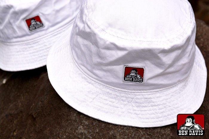 BEN DAVIS BUCKET HAT-猿人-漁夫帽-復古-白標 da70a83a3c3