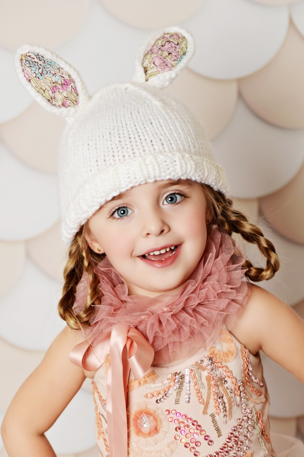 efeec3b6e19d2  Blueberry Hill Bailey Bunny Knit Hat (Liberty Fabric)