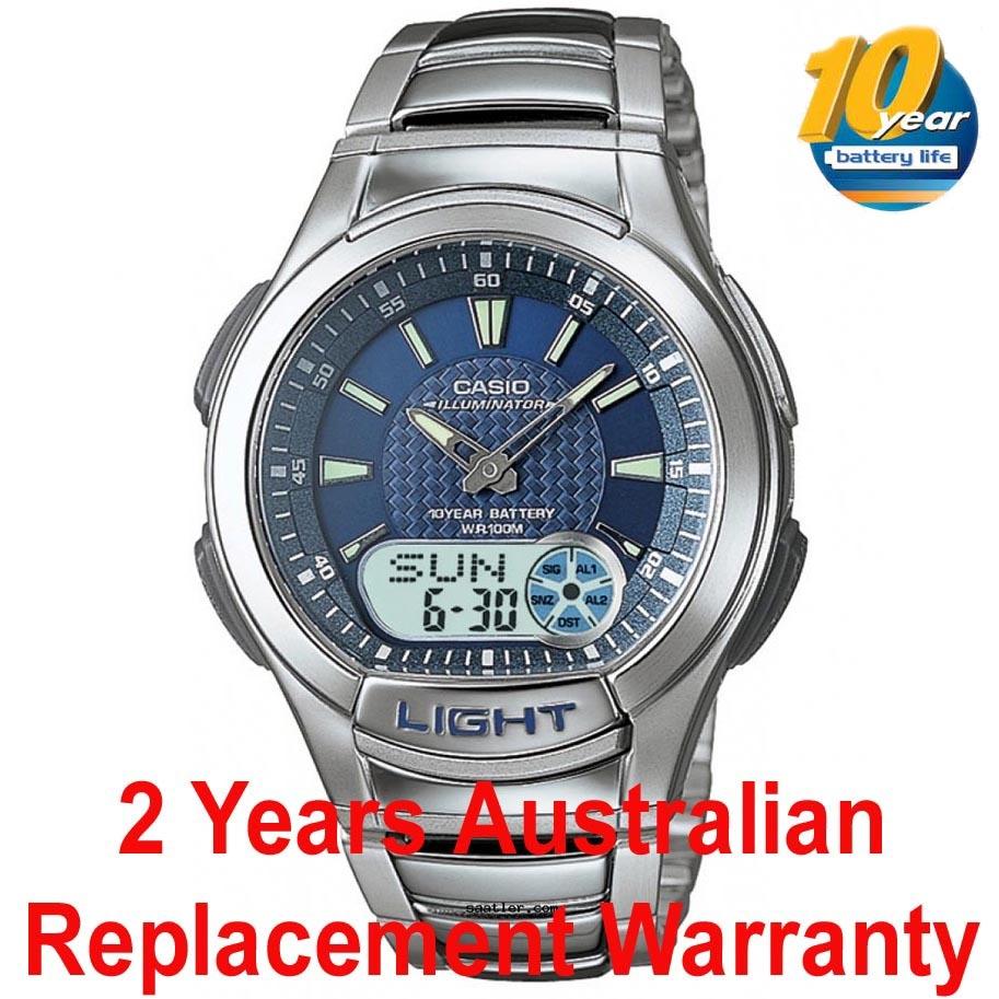 buy casio analog digital aq 180wd 2bv men kids watch rh ozdigitalwatch com casio watch instructions telememo 30 Casio Data Bank Telememo 30