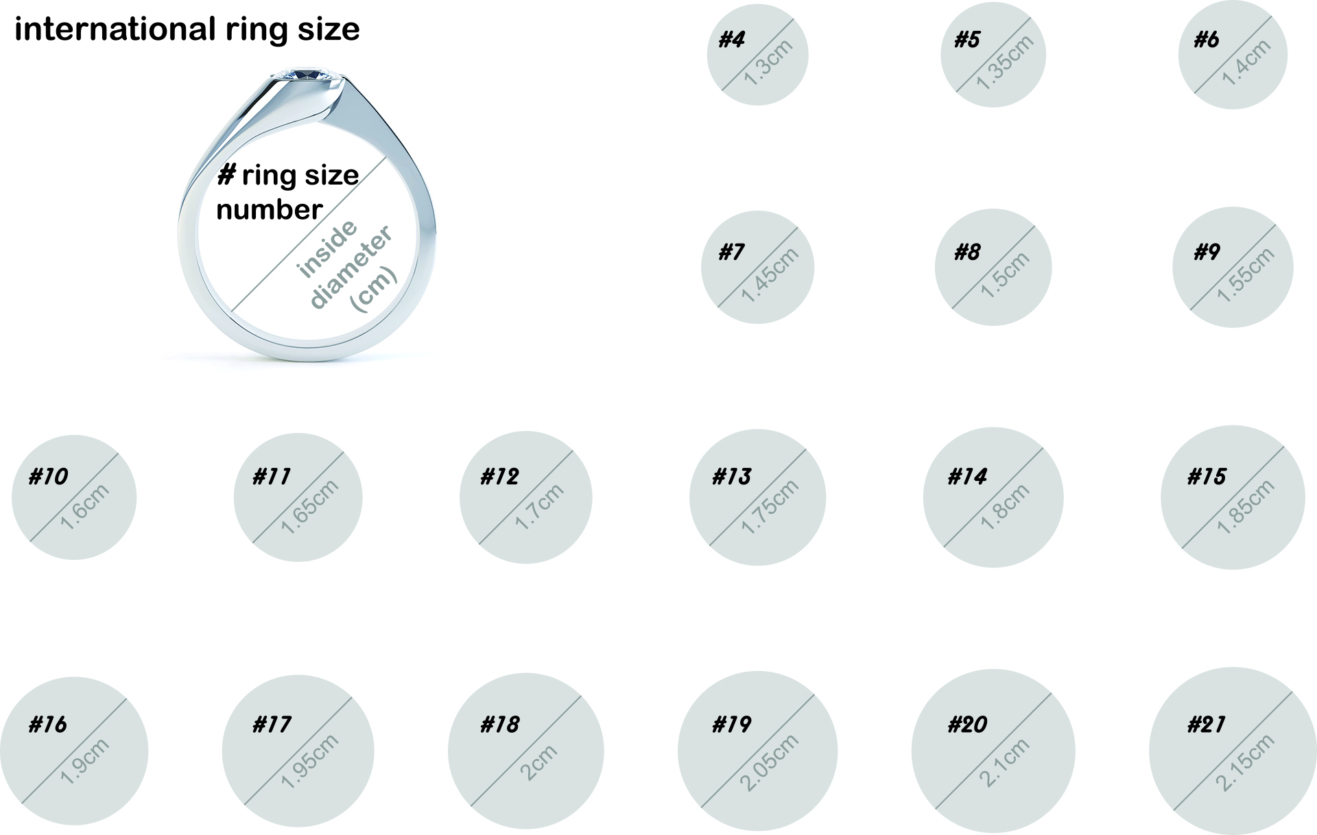 mittag jewelry|戒指國際圍尺寸圖