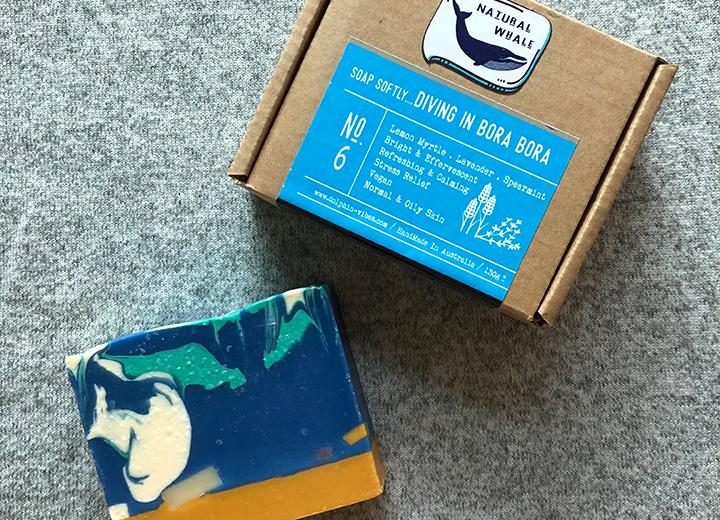 Natural Whale 澳洲冷製天然手工皂,留蘭香精油,檸檬香桃木精油,薰衣草精油. 清新提振.