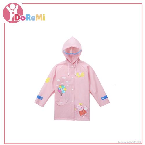 16ab4aec25 Cute Peppa Pig Applique Hooded Raincoat