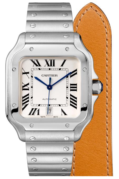 Cartier卡地亞手錶款式-SANTOS 山度士系列 精鋼.大型