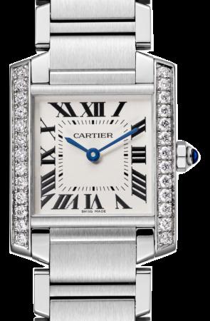 Cartier卡地亞手錶款式-TANK 坦克系列精鋼+鑽石.中型