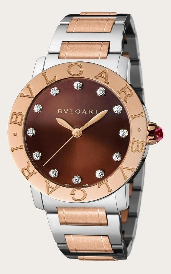BVLGARI寶格麗-BVLGARI  BVLGARI系列  18K玫瑰金 . 精鋼