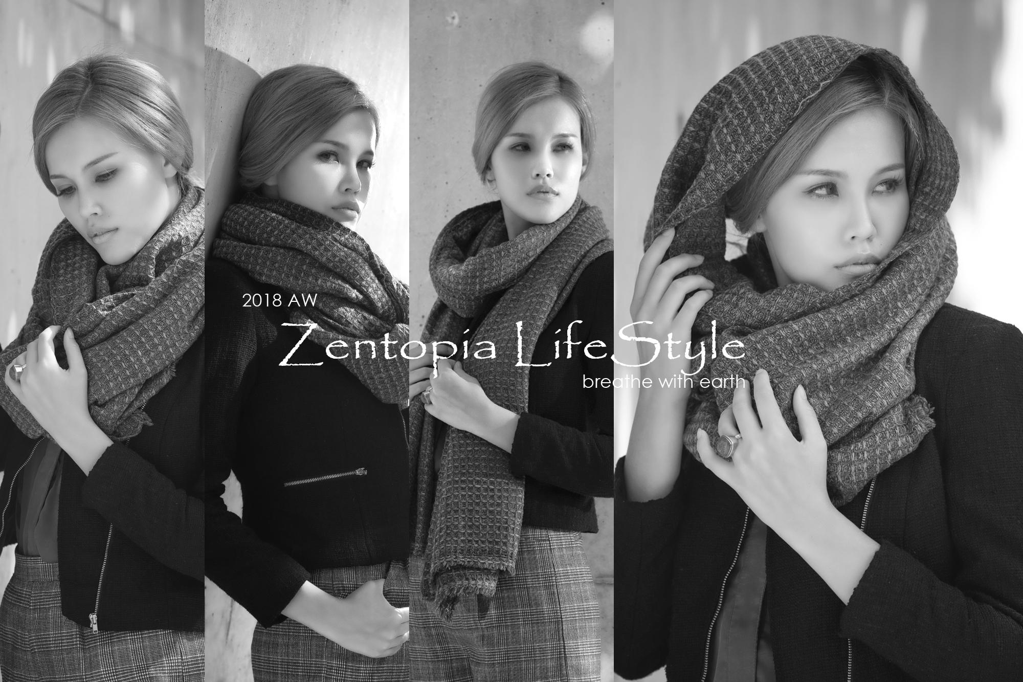 zentopia2018秋冬喀什米爾圍巾