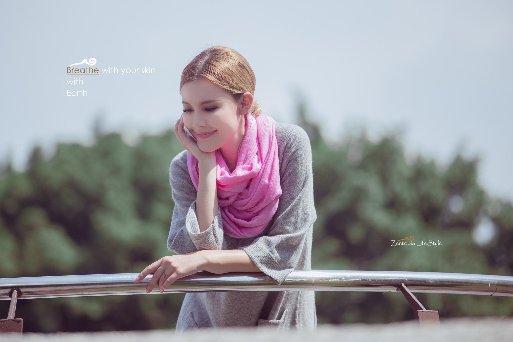 zentopia100%喀什米爾圍巾粉彩系列