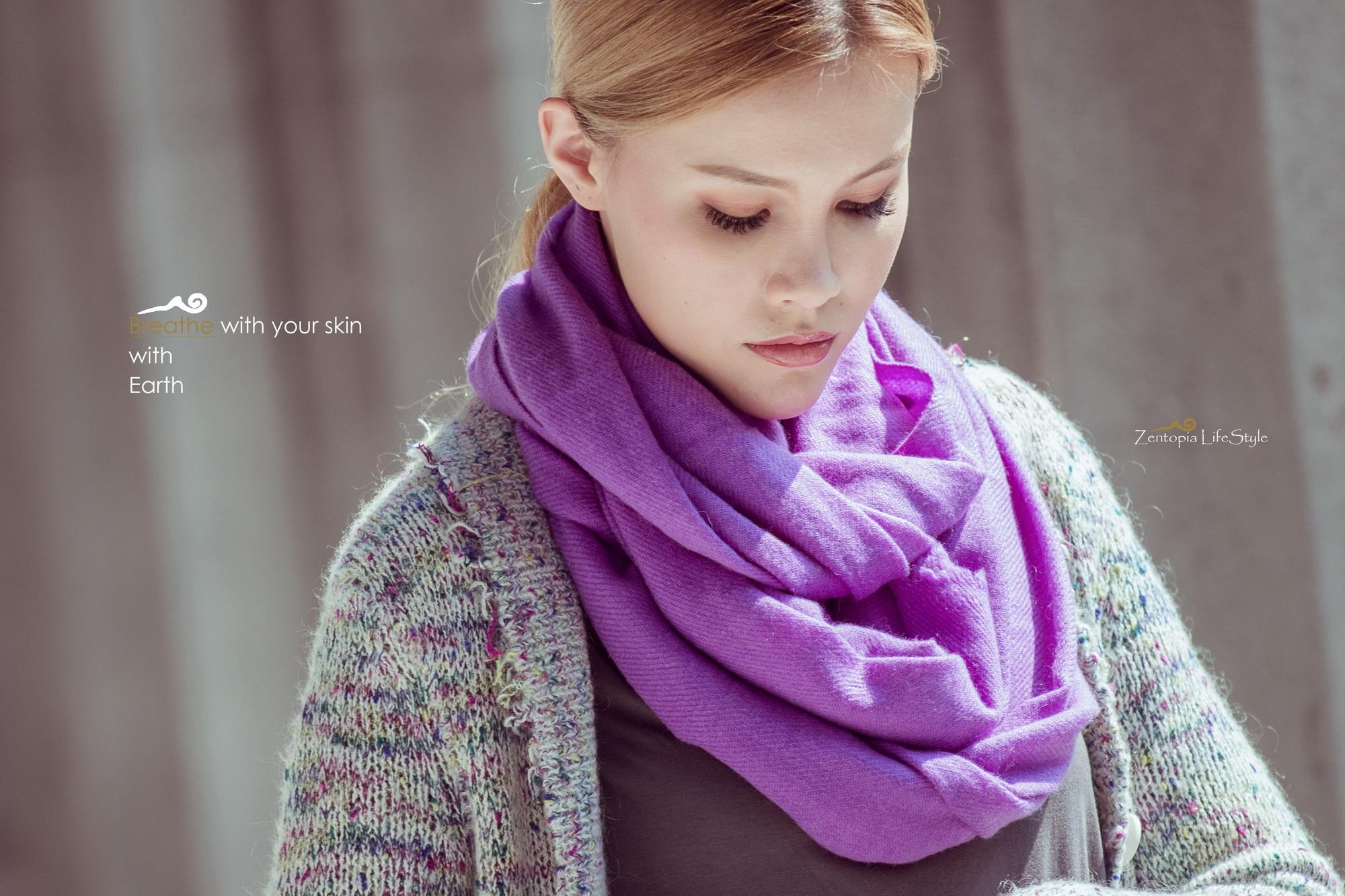 zentopia喀什米爾圍巾粉彩系列