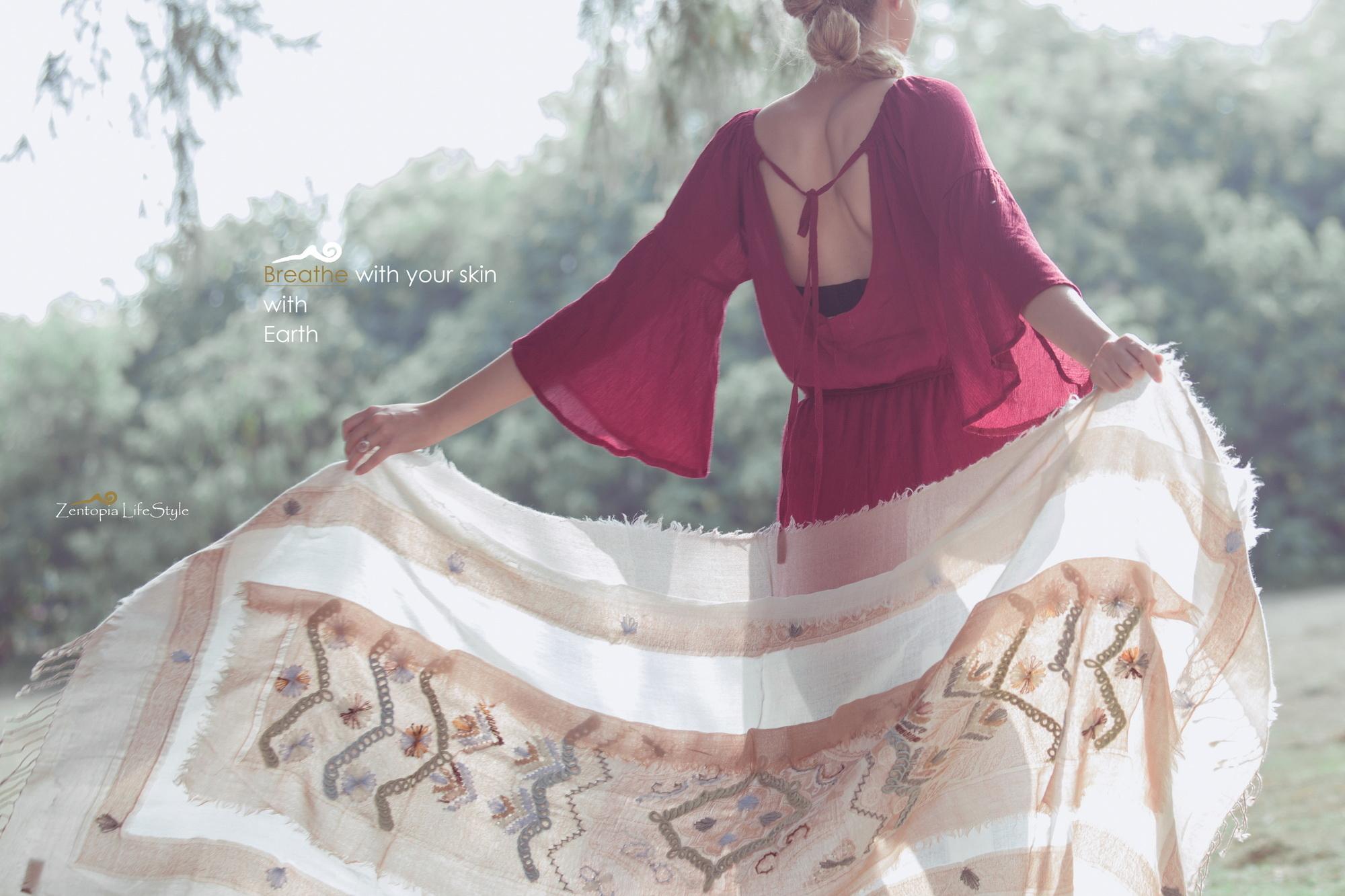 zentopia cashmere 喀什米爾圍巾