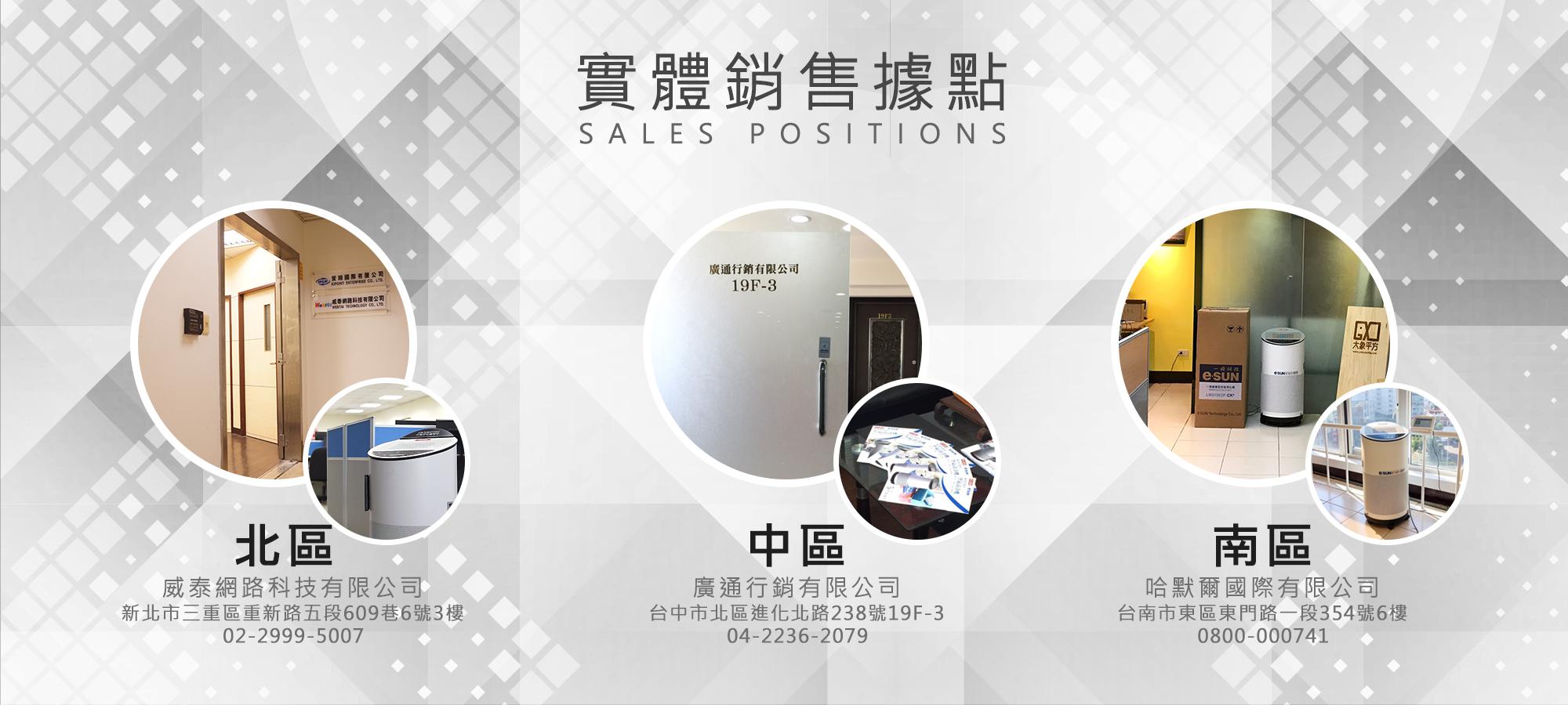 實體據點,sales positions,空氣清淨機,一舜,威品嚴選
