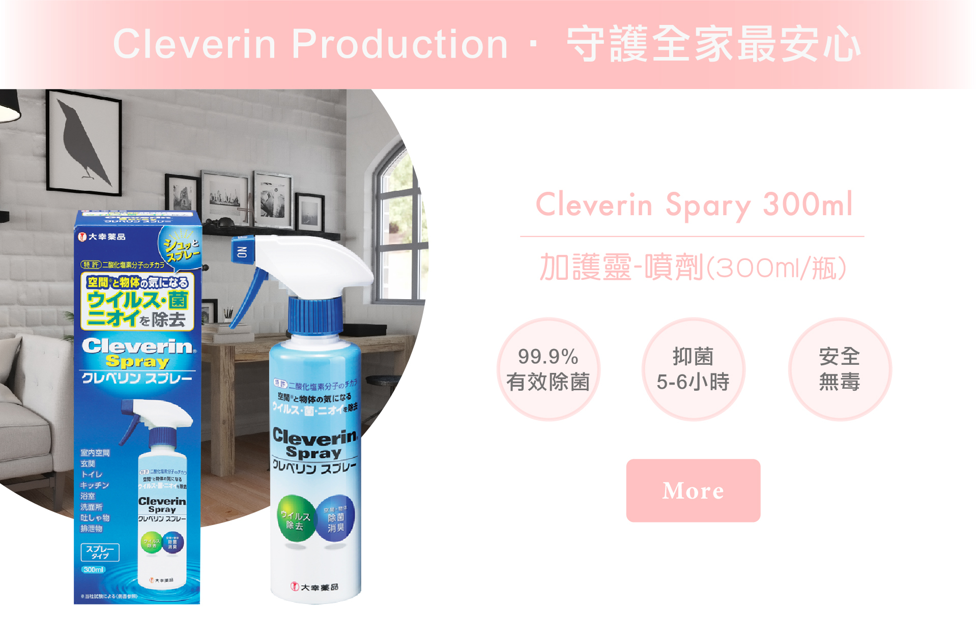 cleverin spray 加護靈 噴劑300ml