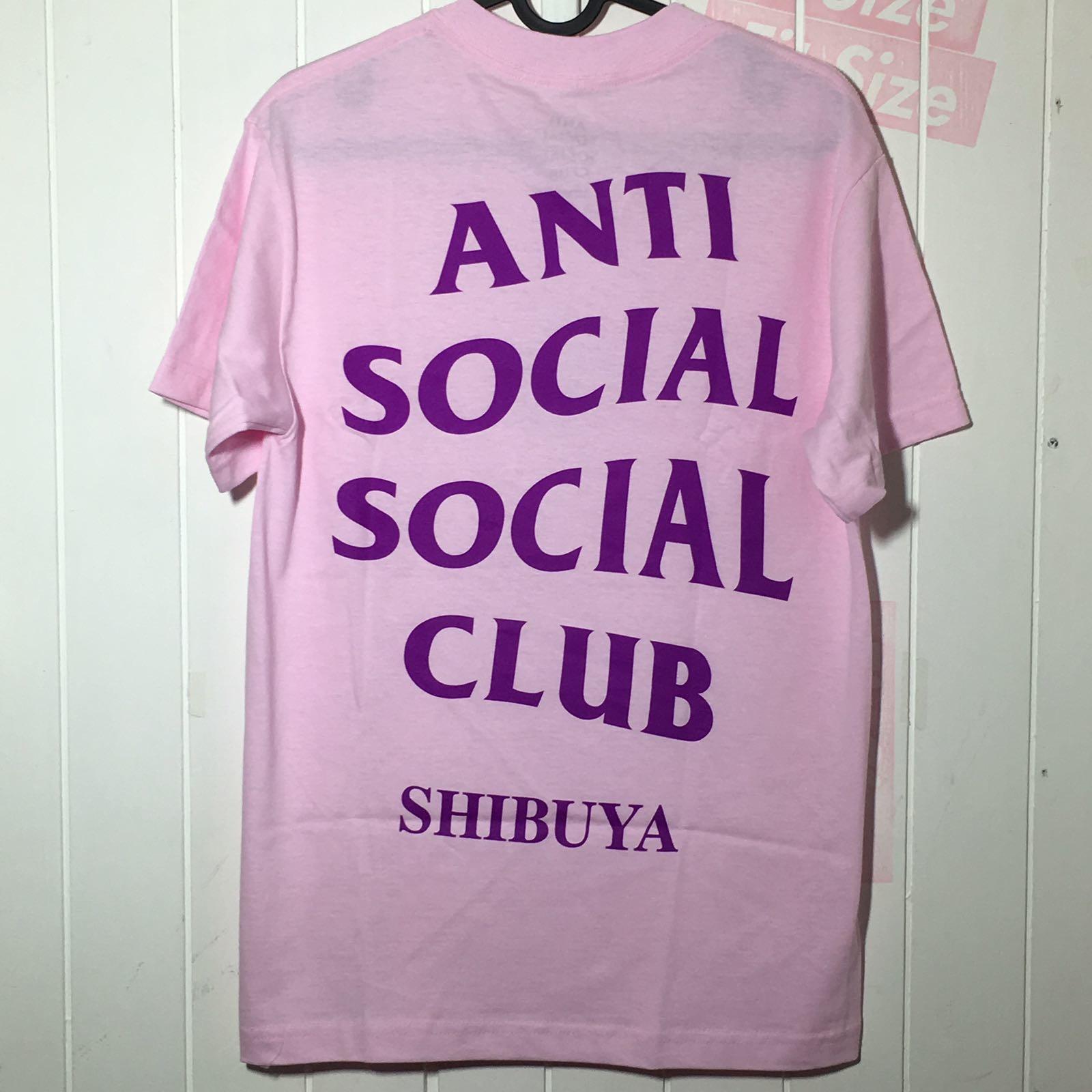 91ead41813f6 Anti social social club Shibuya Pink Tee