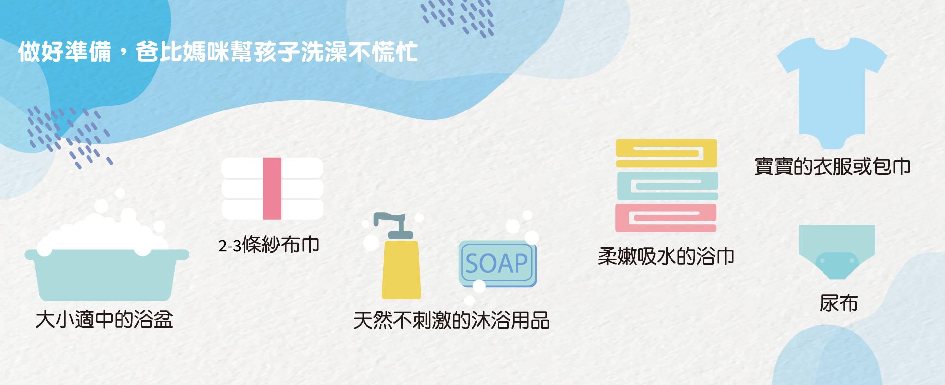 3個心法4個重點,讓你好好幫孩子洗澡。做好準備,爸比媽咪幫孩子洗澡不慌忙。