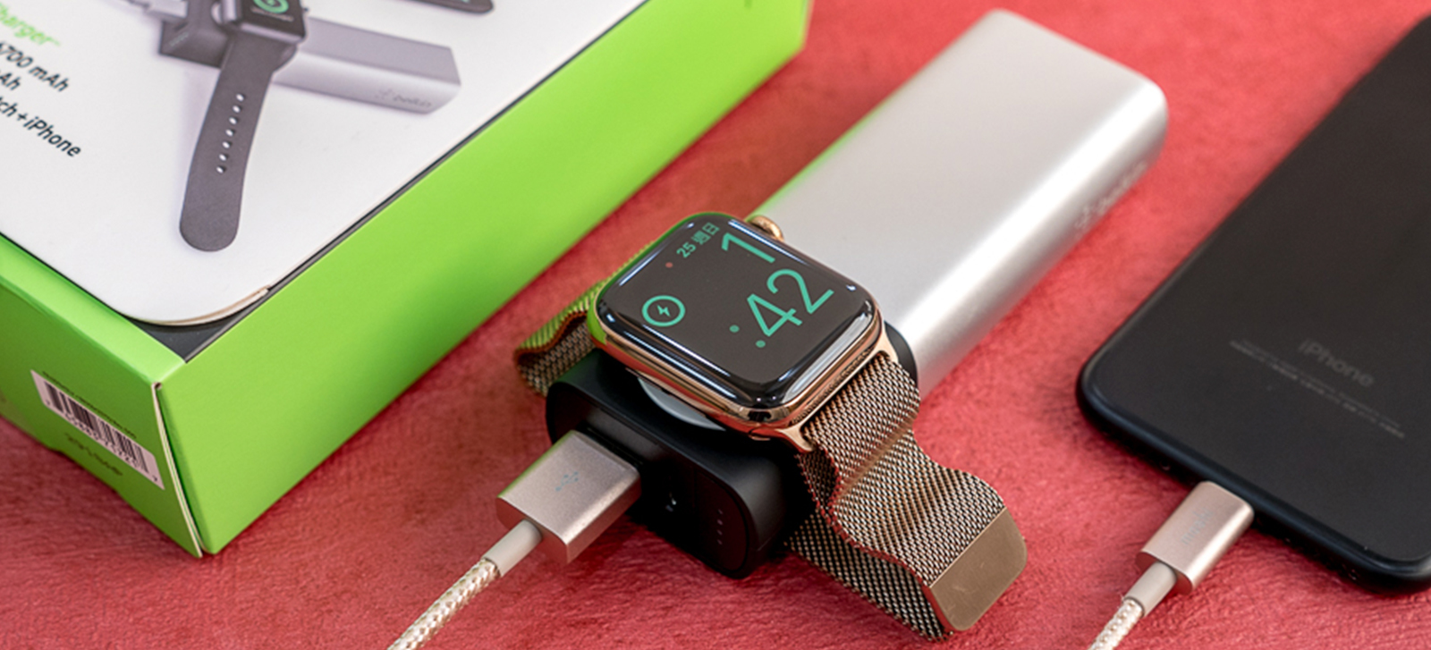 Belkin Valet Charger Apple Watch+iPhone 二合一行動電源(6700mah)