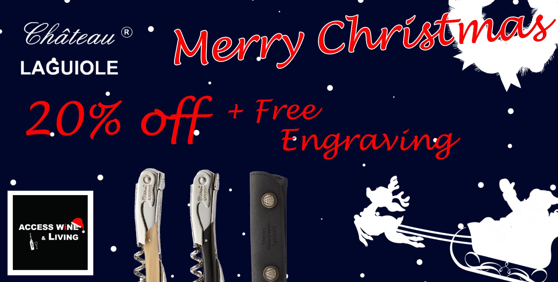 france, chateaulaguiole, 侍酒刀, 耶誕節, 聖誕節, merry, christmas, gift, engrave, 刻字, 手工, 高級, highclass,