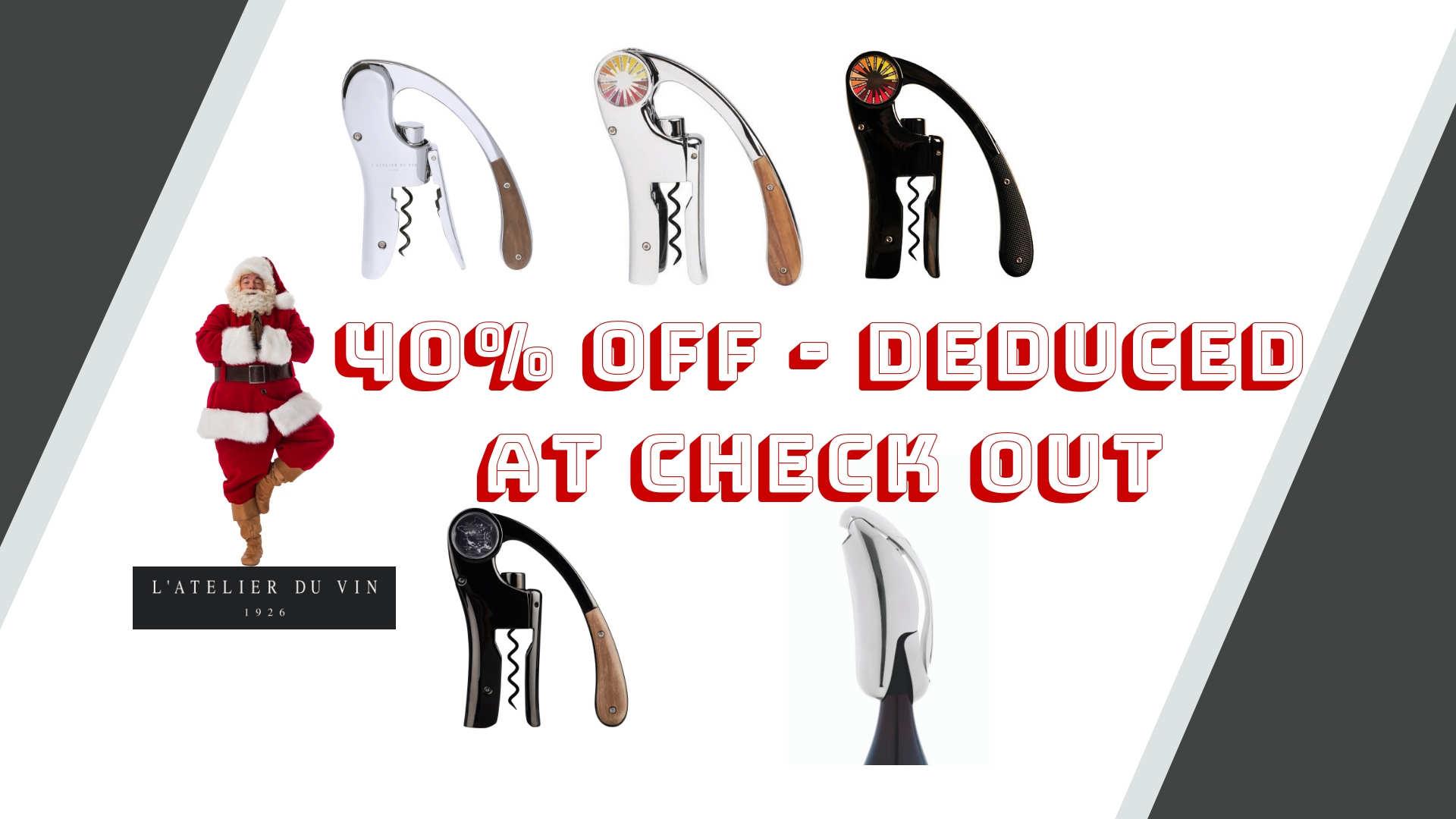 WOW Christmas Promo L'Atelier du Vin on Oeno Motion lever corkscrews