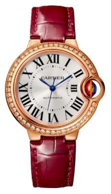 Cartier卡地亞手錶款式-BALLON BLEU 藍氣球系列     玫瑰金皮帶.33mm