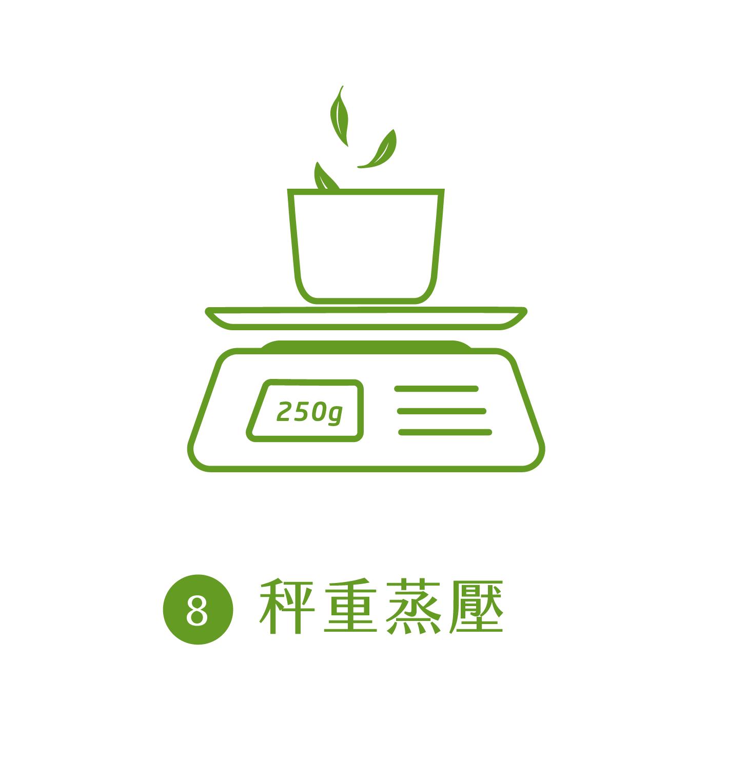 晁鎮茶苑古樹茶雨林製作流程秤重蒸壓