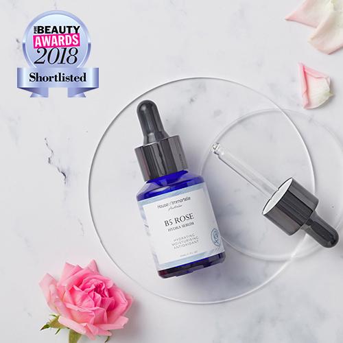 rose serum, b5 serum, hydration serum, beauty award