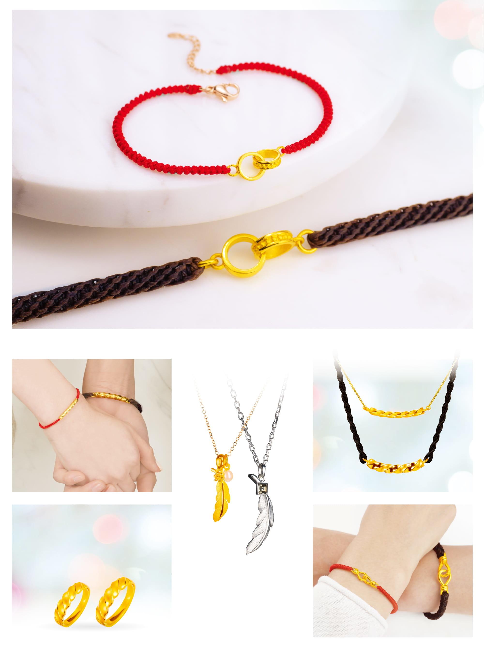 金飾情侶對鍊,黃金情侶對鍊,對鍊,情侶金手鍊,情侶金項鍊