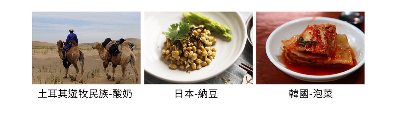 遊牧民族的酸奶、日本人吃納豆和韓國人愛泡菜