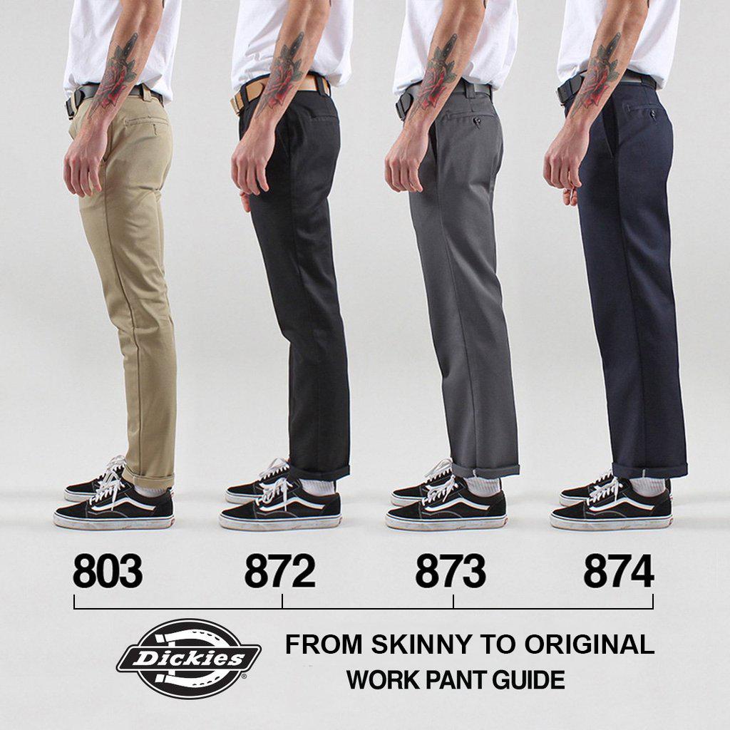 6a5f3367 Dickies 803 Slim Skinny Fit Twill Work Pants