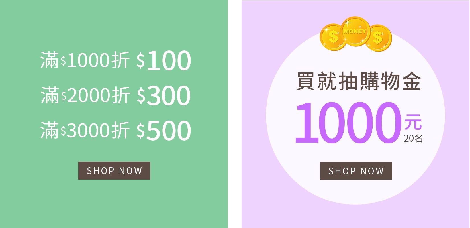 週週抽1,000元購物金活動辦法