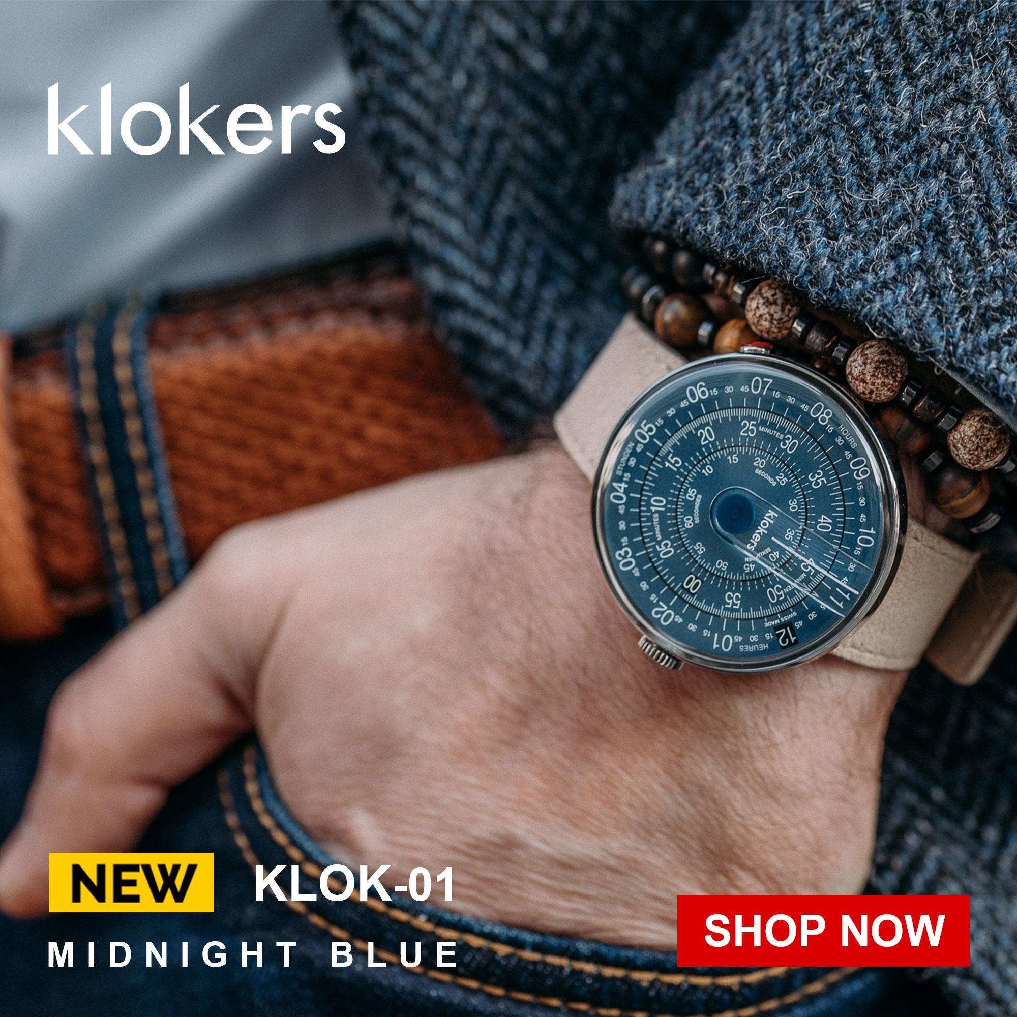 klokers ,KLOK-01-D7,午夜藍,Ultra Gears