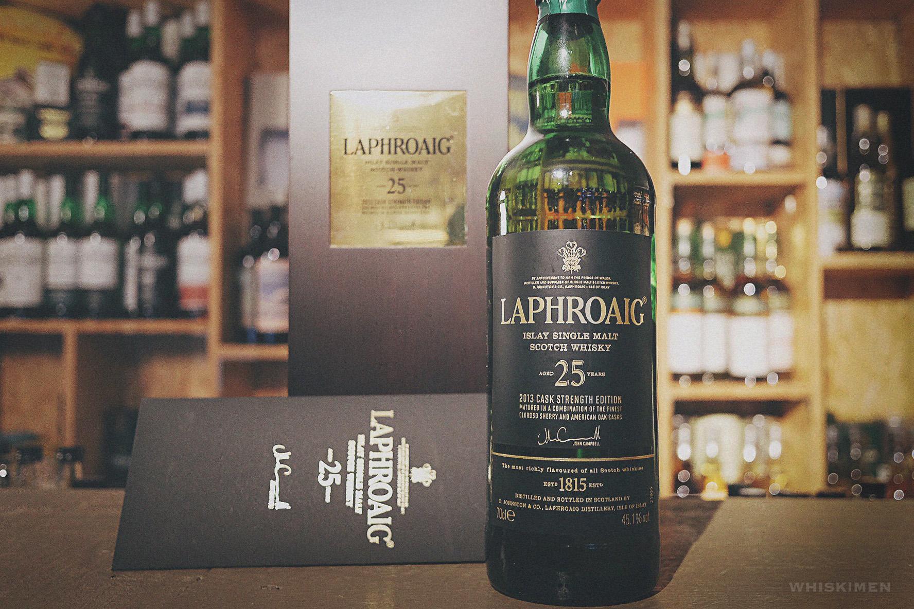 Laphroaig 25 Year Old Single Malt Scotch Whisky (2013 Cask Strength Edition)