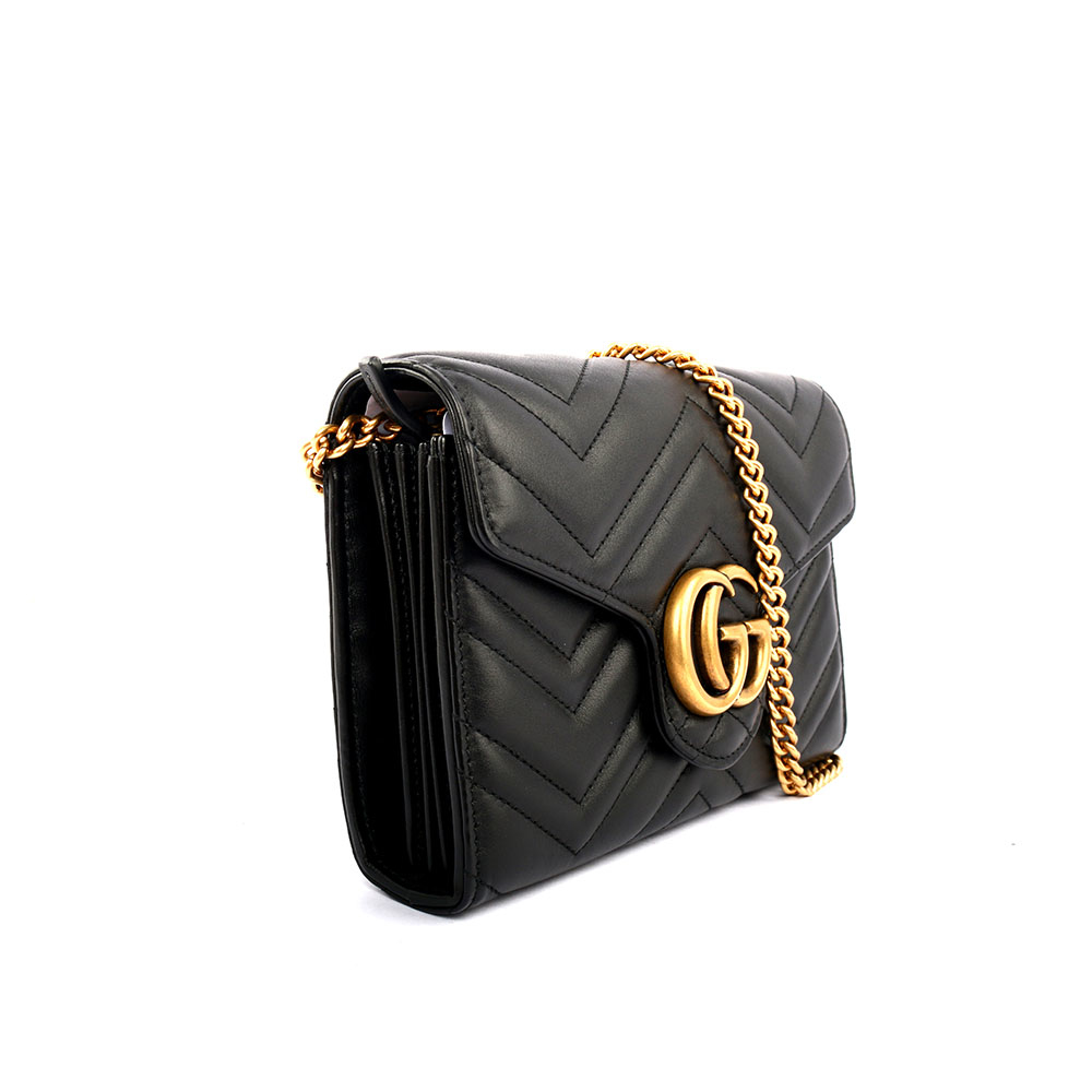 e049669e0d5 GUCCI GG Marmont mini bag 翻蓋式WOC (黑色)474575 DTD1T 1000