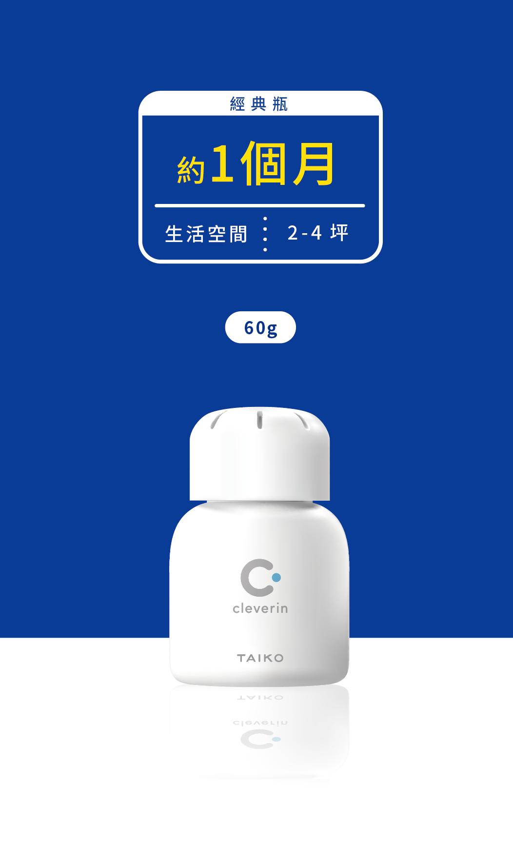 加護靈經典瓶60g使用在2-4坪的生活空間,約使用一個月