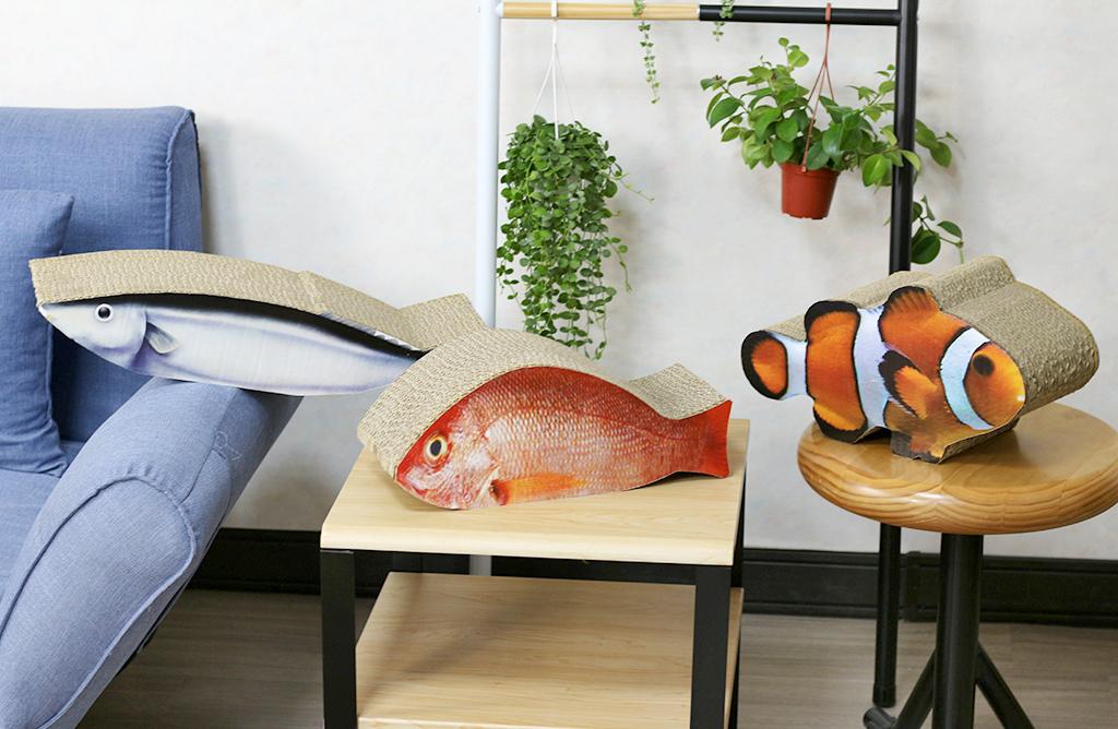 擬魚貓抓板