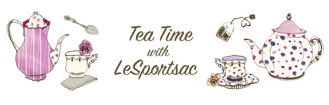 lesportsac 2019 春夏印花,下午茶,f105,tea for two