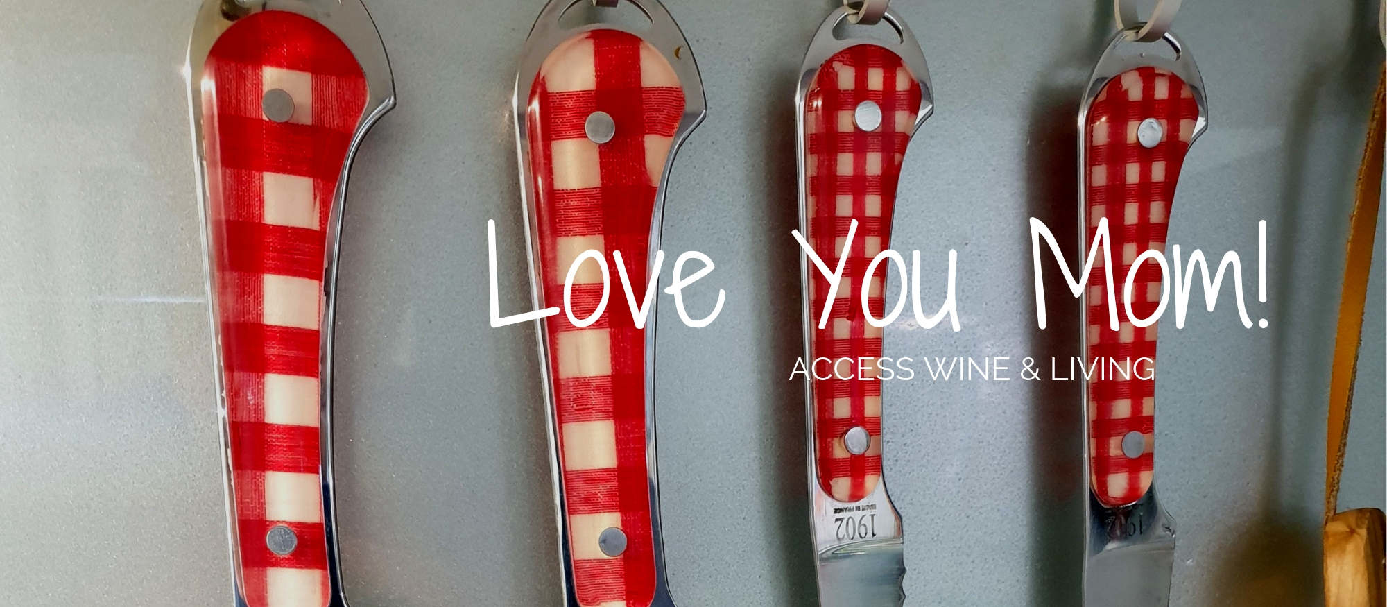Offer Claude Dozorme Vichy Kitchen knives hanged for Mother's Day