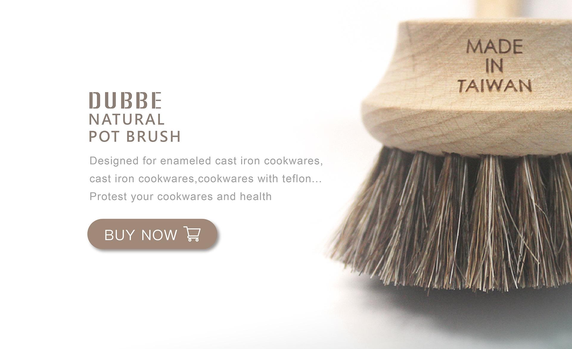 DUBBE Natural pot brush