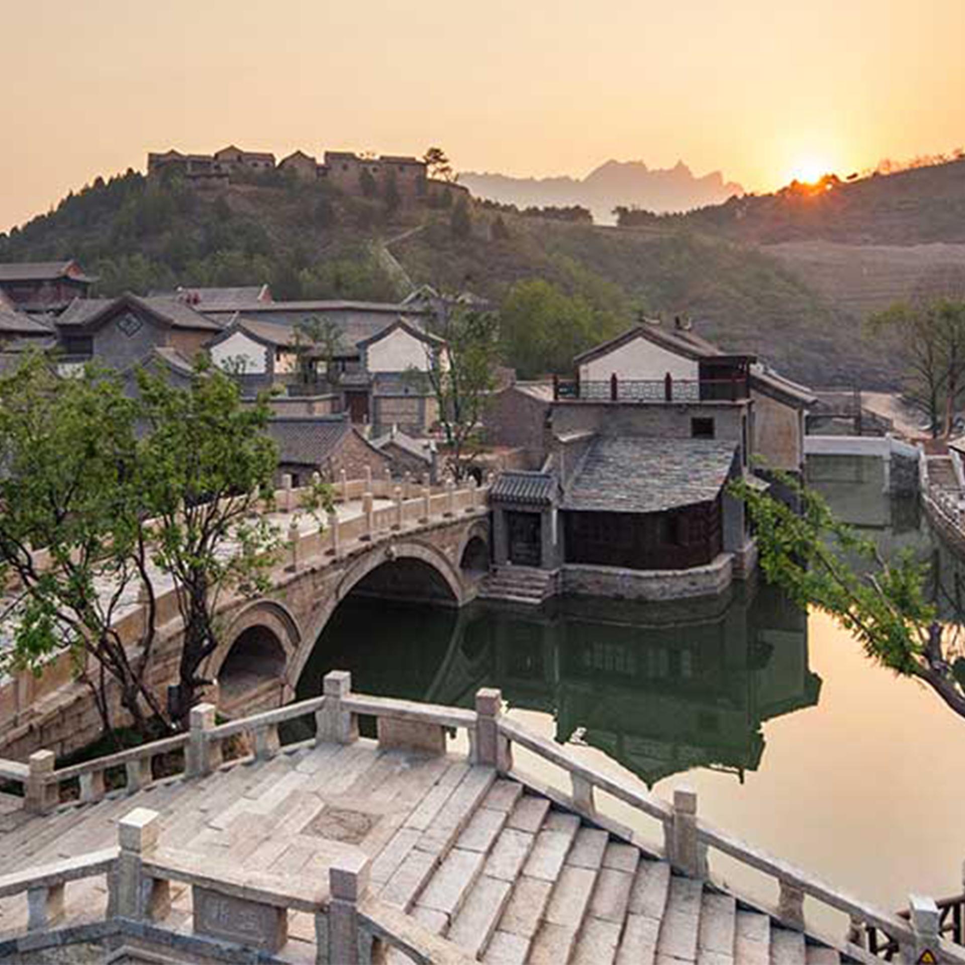 中國,北京,長城,古北水鎮