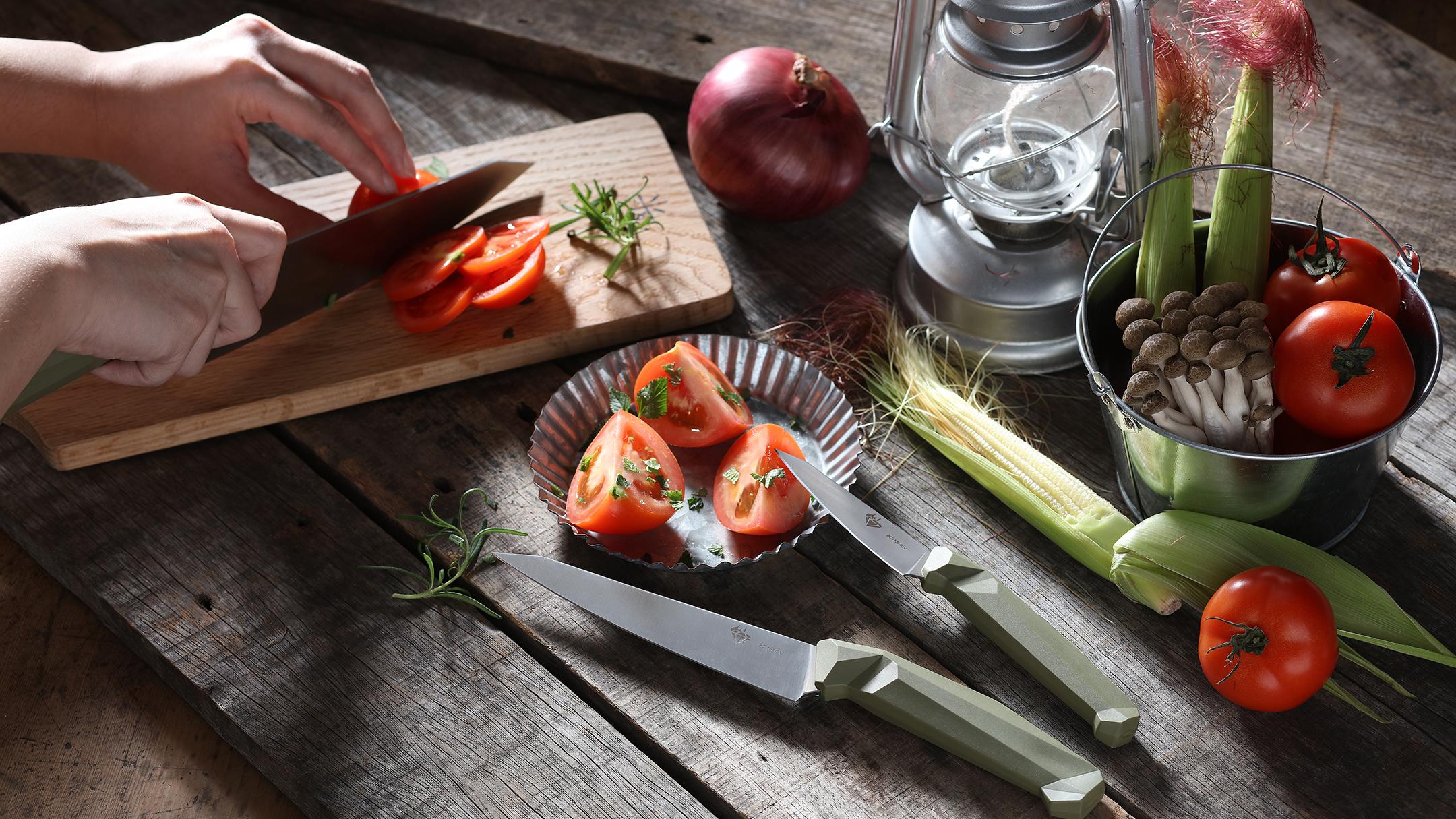 使用Diafrie綠寶石廚刀料理
