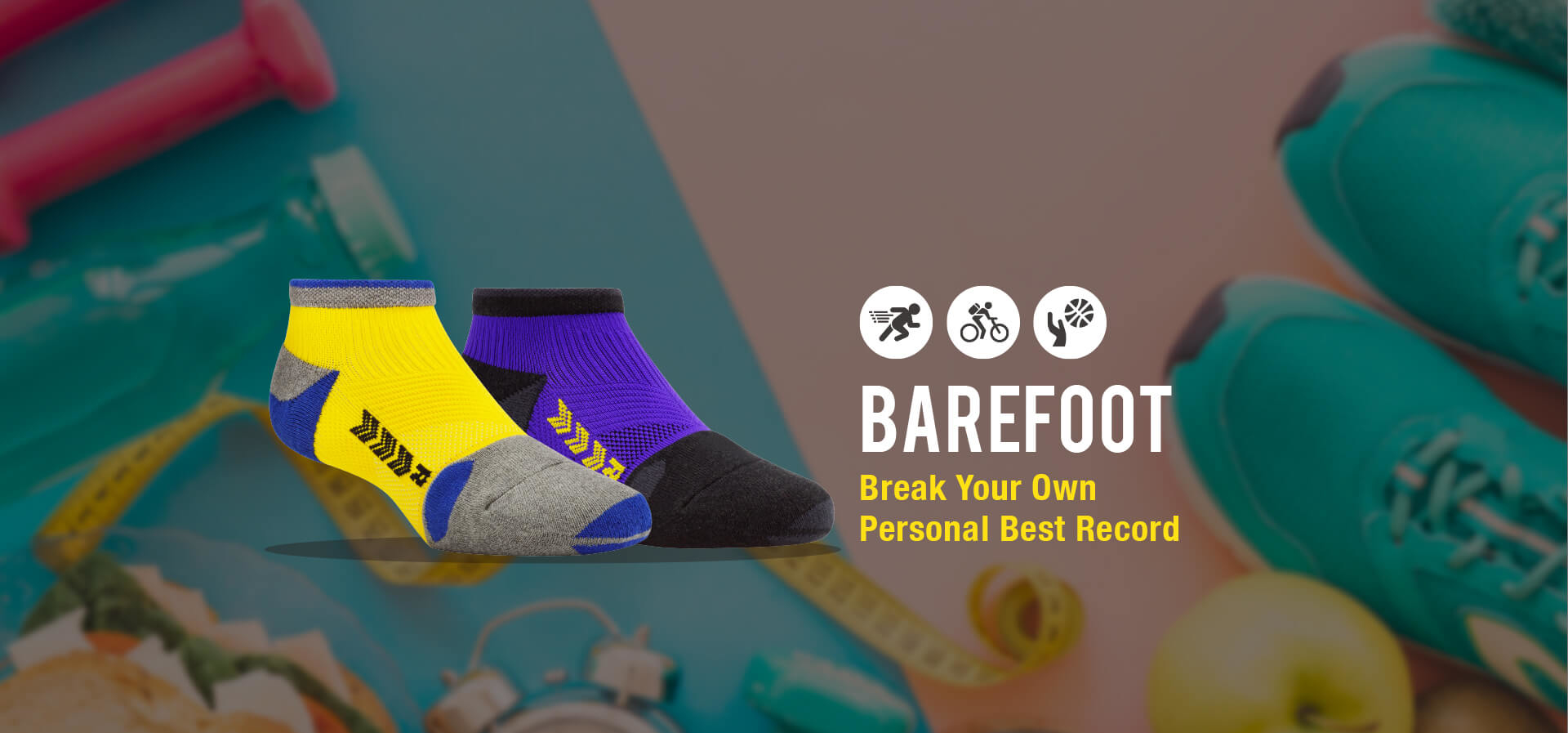 CHEGO Functional Socks BAREFOOT series for marathon