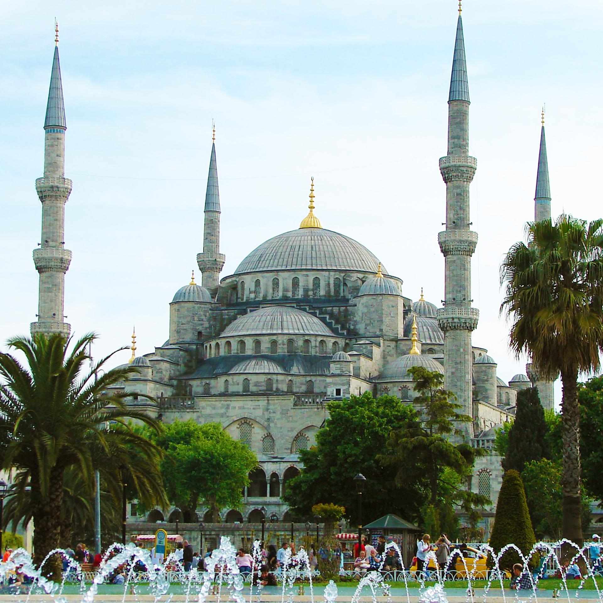 土耳其,伊斯坦堡,藍色清真寺