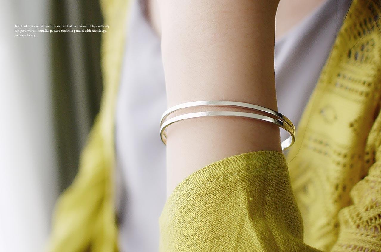 雙人舞純銀手環
