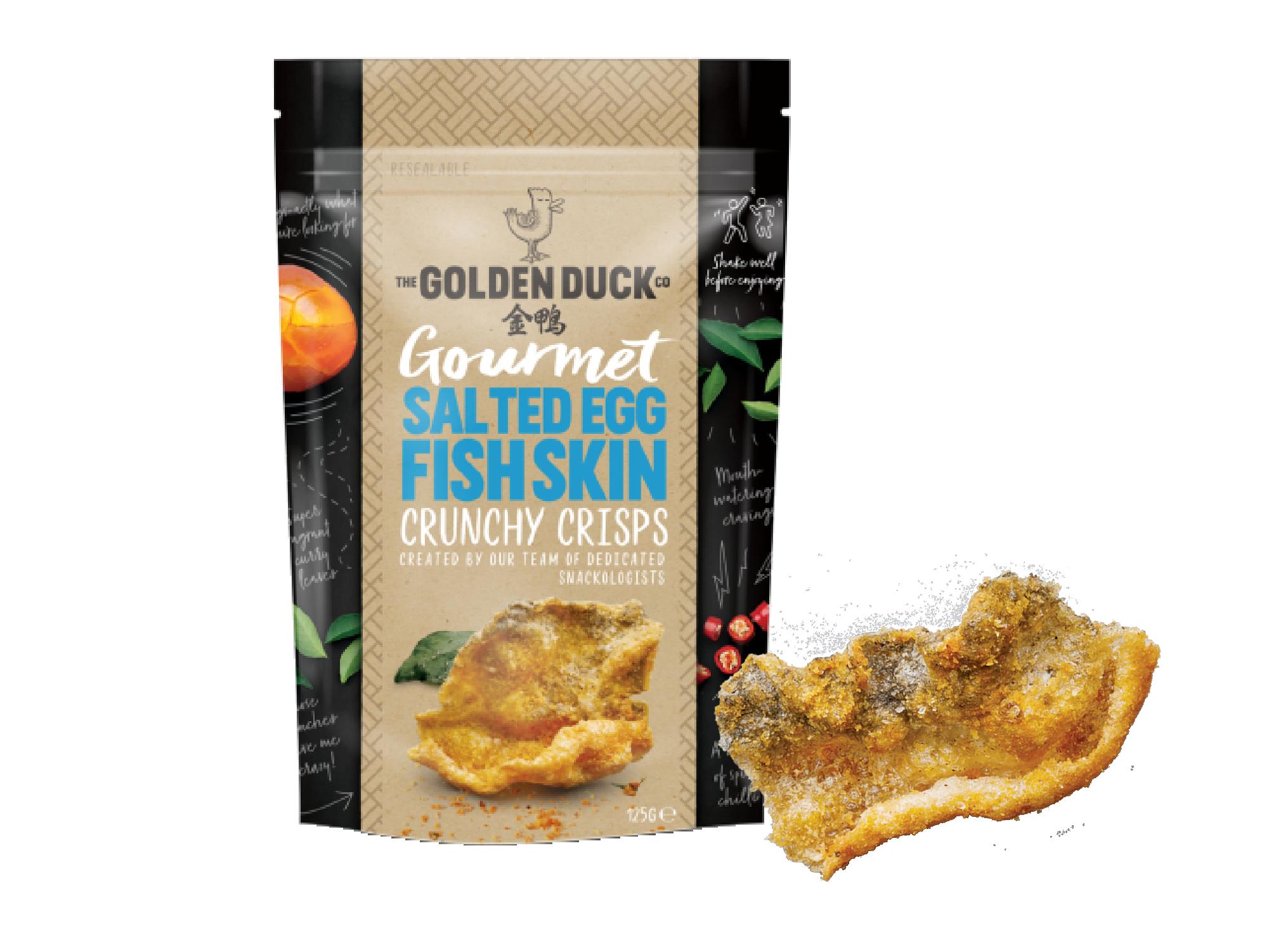 金鴨鹹蛋黃魚皮,新加坡人氣鹹蛋黃零食
