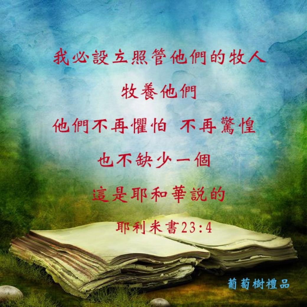 本週經文 耶利米書23:4