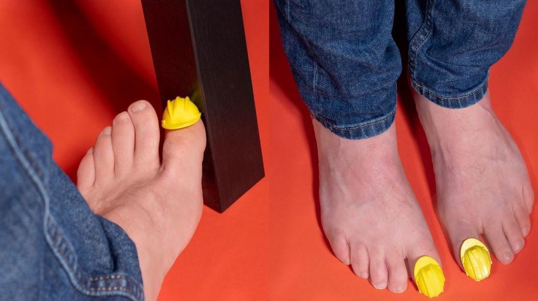 腳趾安全帽,踢到桌腳,腳趾撞到,腳趾踢到