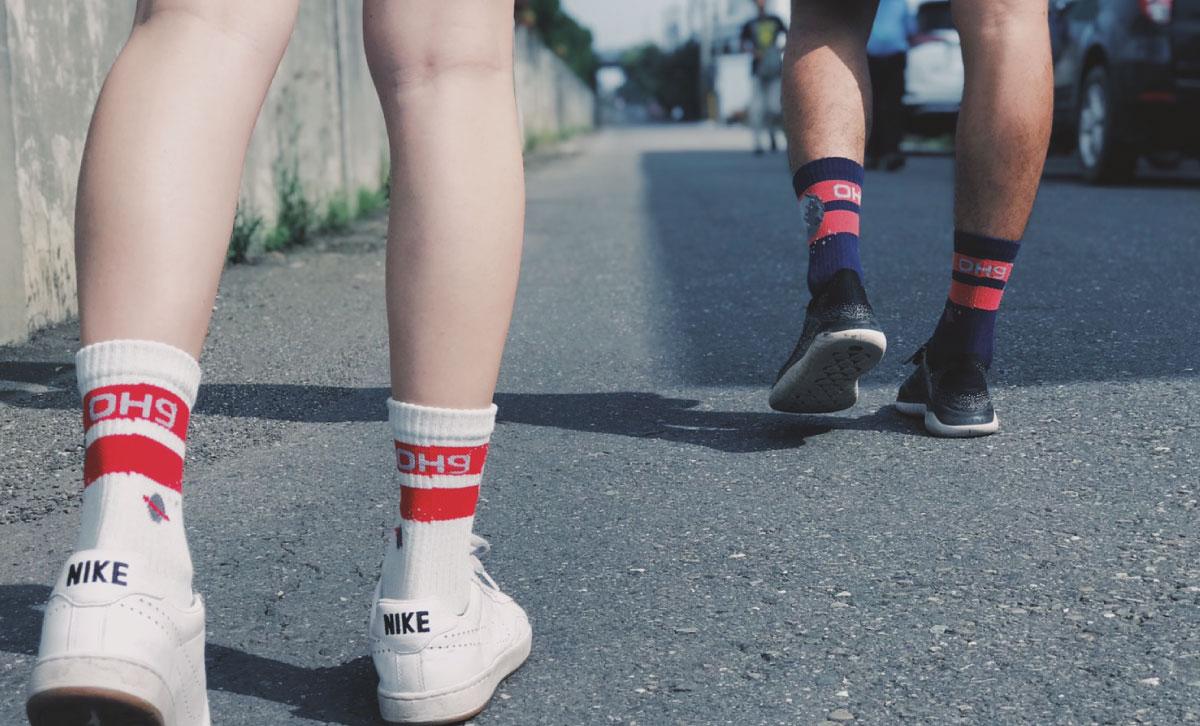 OH9黑狗運動襪登月50週年紀念襪