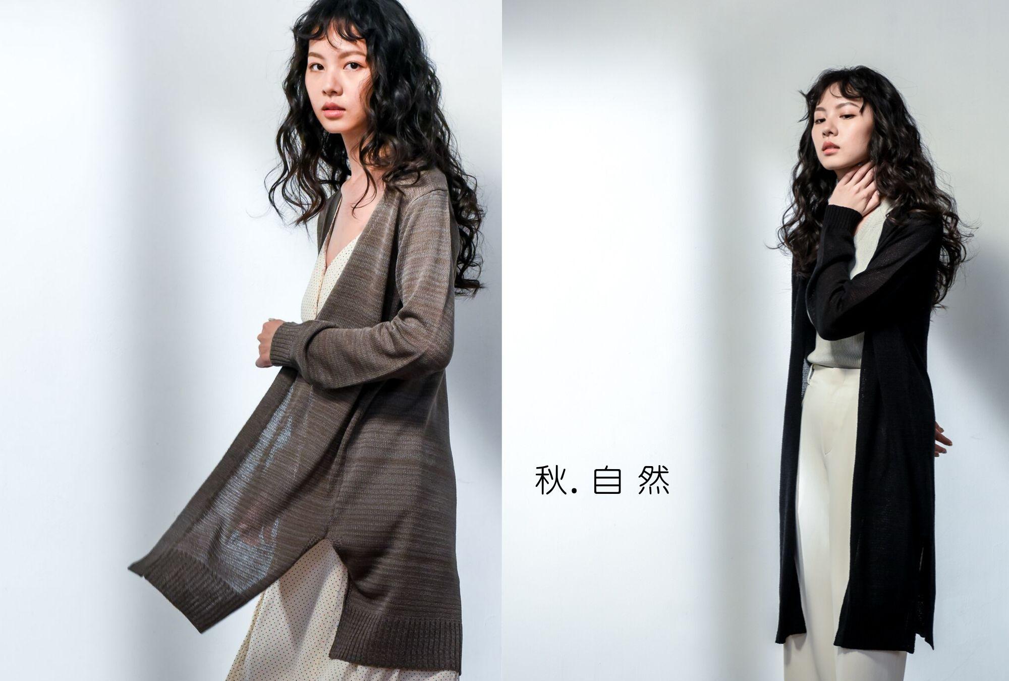 V領長版針織外套下擺開岔設計台灣製品|O-LIWAY 穿搭首選