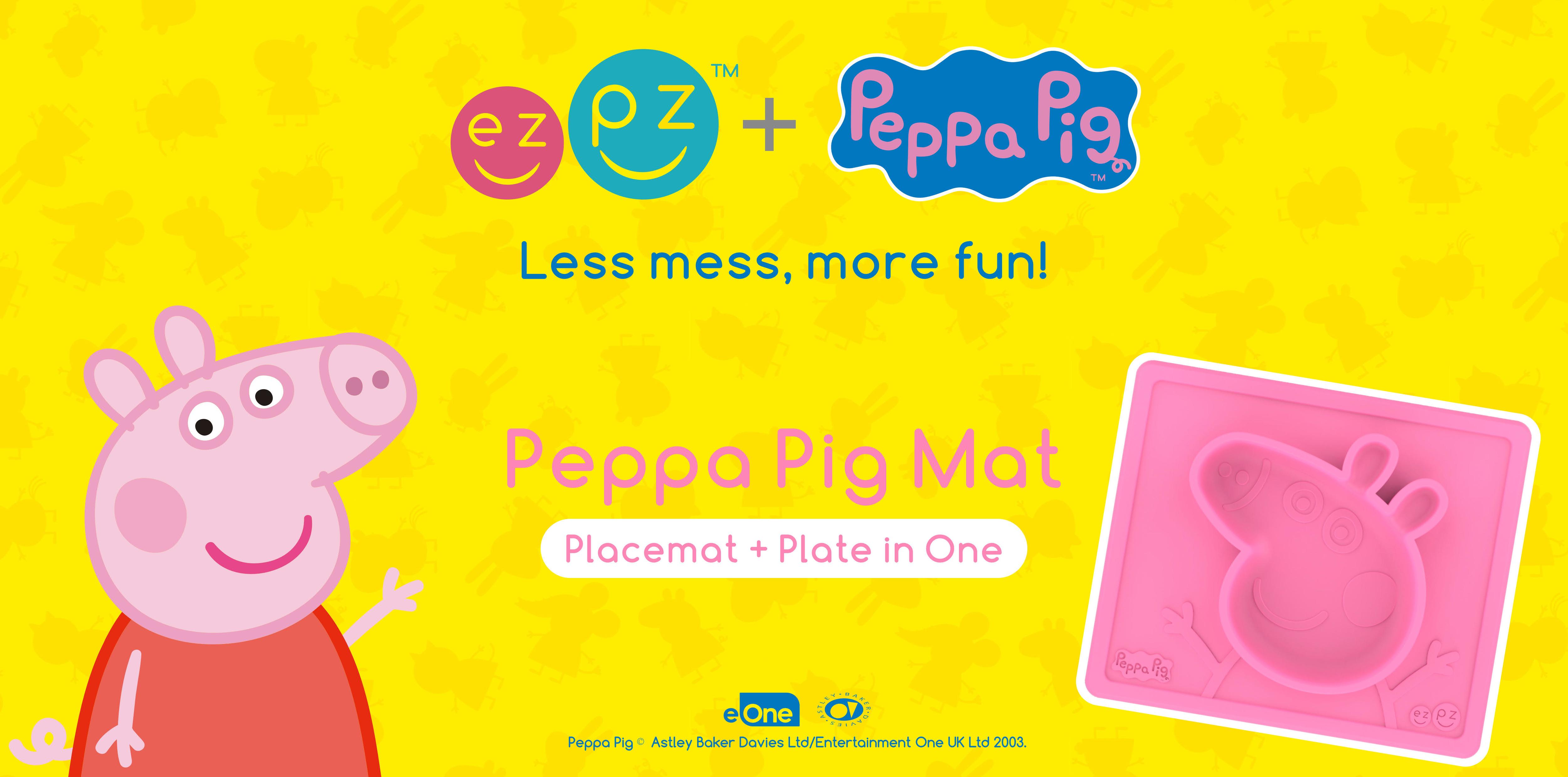 ezpz 限量版 PEPPA PIG 造型枱墊+分隔碟