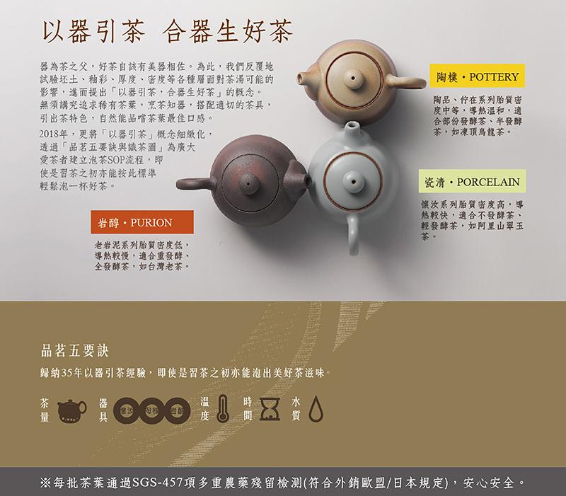 品名五要訣/陶作坊/以器引茶/茶具/茶杯/茶葉/老岩泥