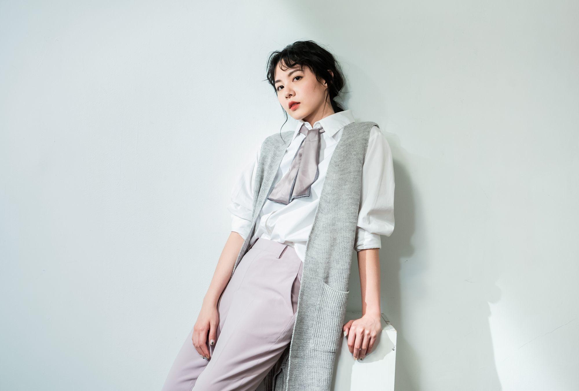 開襟針織背心-O-LIWAY 台灣製