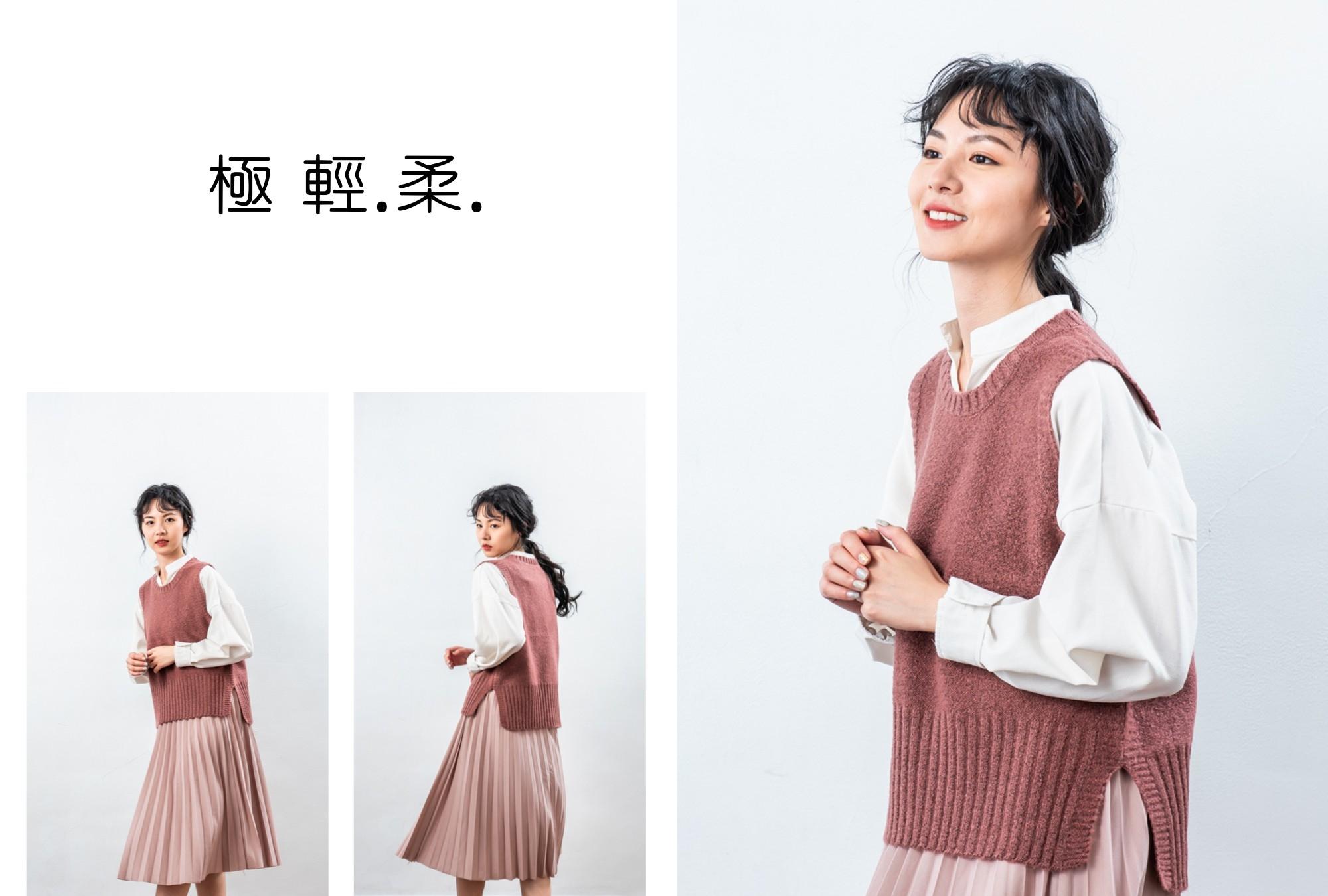 圓領針織背心-輕柔系列-輕量化設計