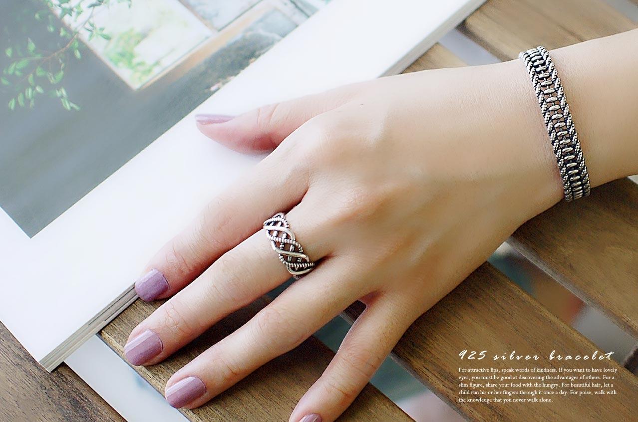 海風編織純銀手環
